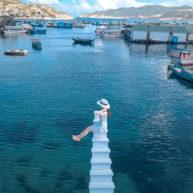 Check – in mỏi tay với con đường bảy sắc cầu vồng ở biển Bình Hưng1