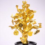 Cây phát lộc dát vàng – quà tặng đẳng cấp mừng tân gia (2)