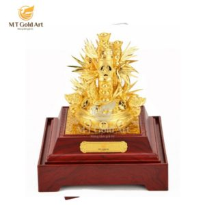 Cây phát lộc dát vàng – quà tặng đẳng cấp mừng tân gia