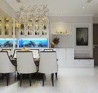 Trang trí nhà bếp với gương dán tường cao cấp.