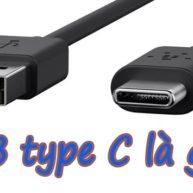 So sánh sự khác biệt giữa cổng USB Type C với USB Type A, B